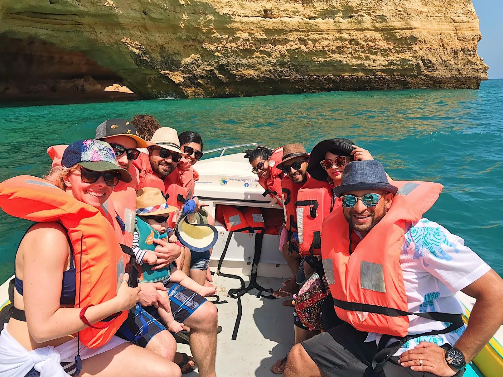 Muslim-travel-recommendations-Algarve-Portugal-Benagil-cave-boat-tour