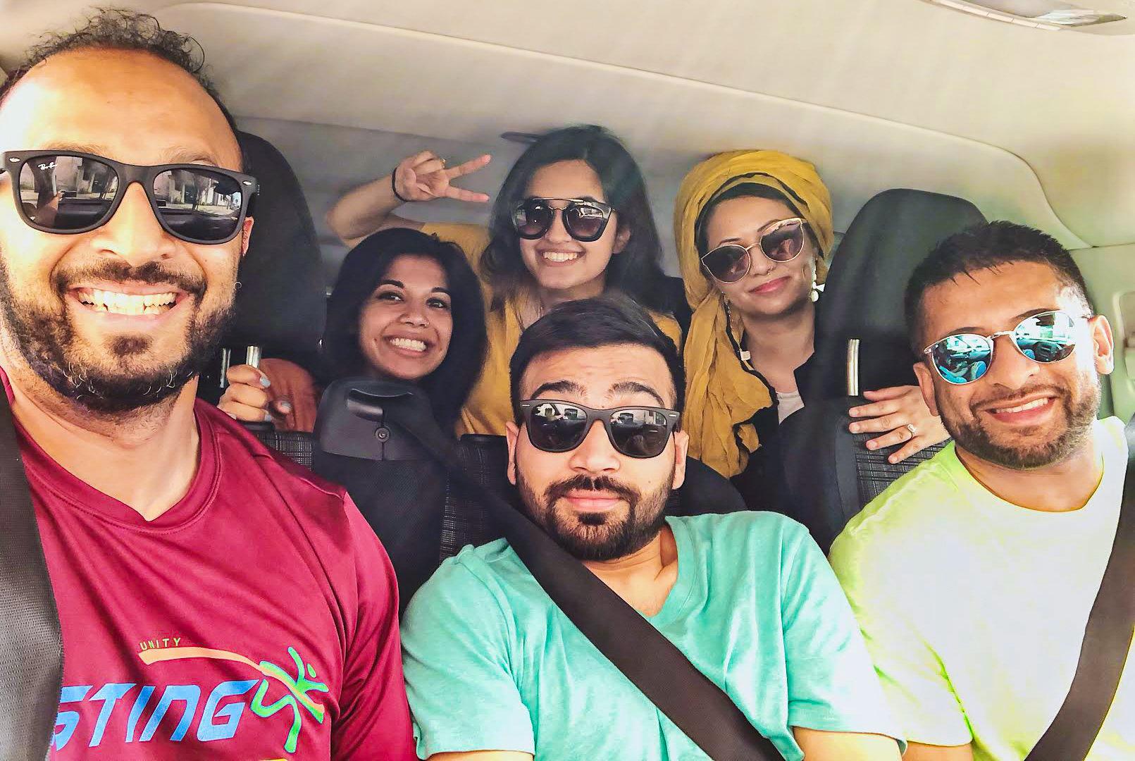 Muslim friends on road trip to Algarve