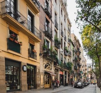 Street of El Born neighborhood