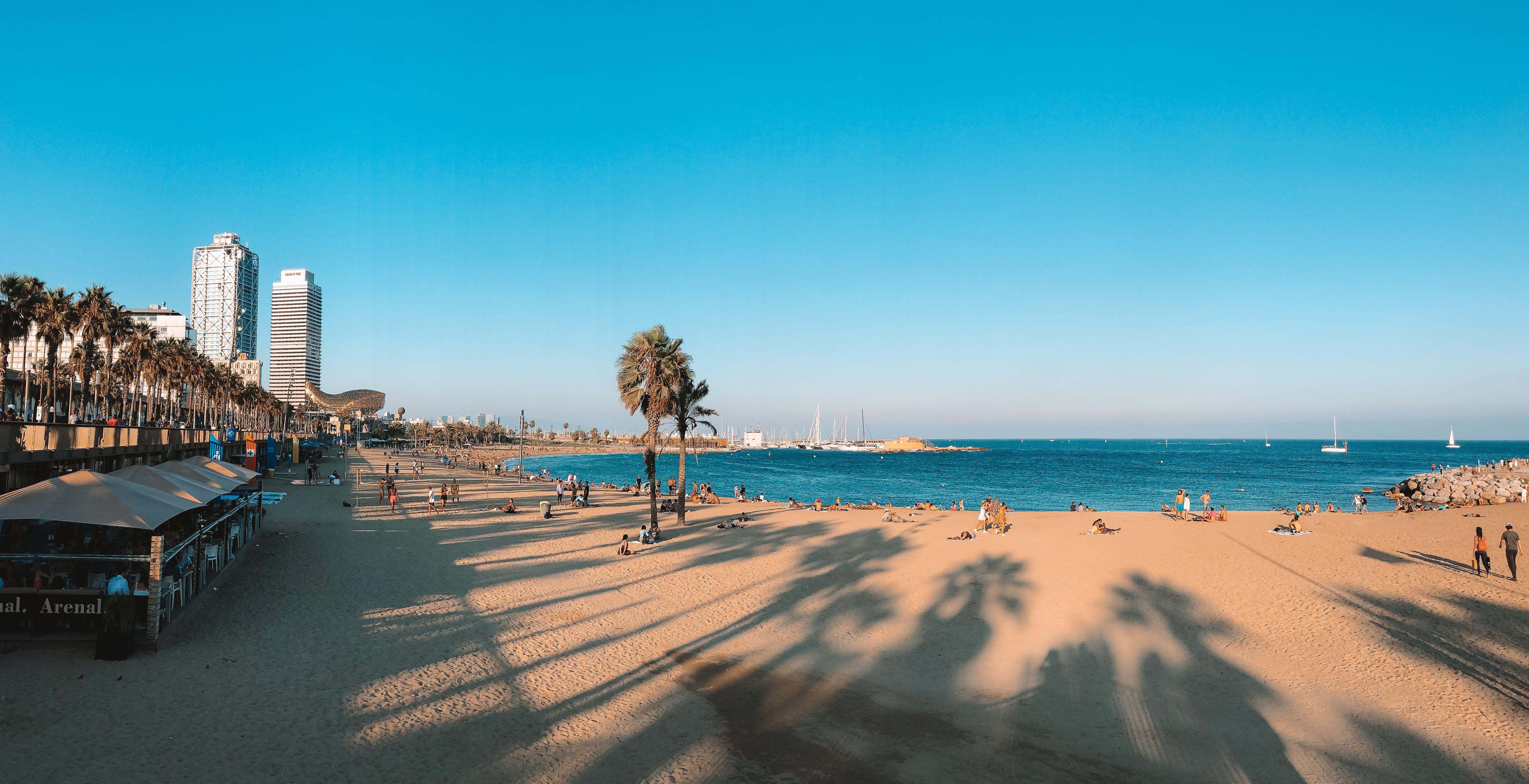 Barceloneta Beach at sunset