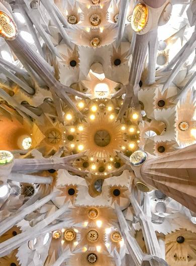 Ceiling inside Sagrada Familia