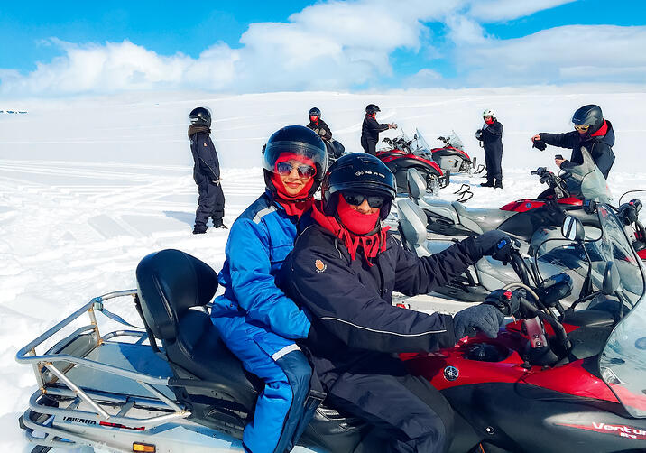 Muslim-travel-blog-Iceland-snowmobiling-on-glacier