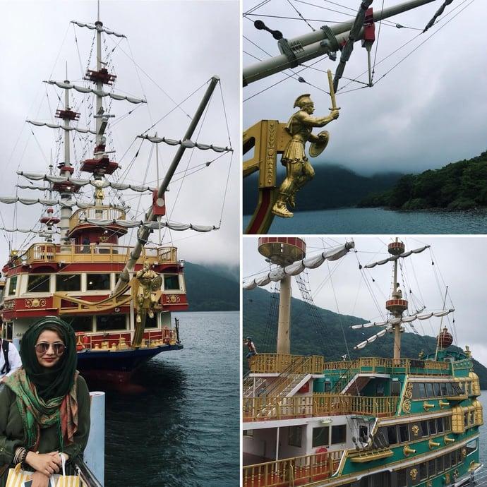 Hunting For Mt Fuji In Hakone JAPAN - Pirate ship cruise