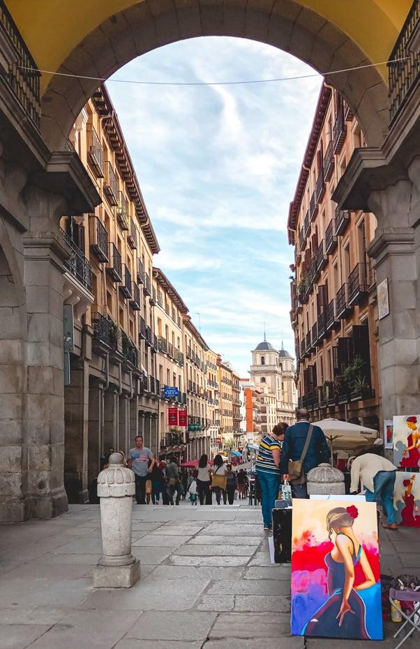muslim-travel-blog-Madrid-Spain-Plaza-Mayor-halal-food