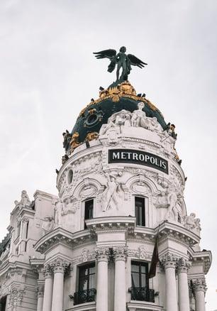 Metropolis building architecture Madrid travel guide