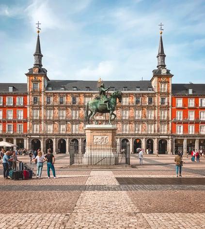 King Statue at Plaza Mayor Madrid