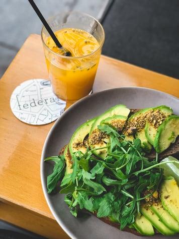 Halal avocado toast brunch in Madrid