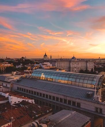 muslim-travel-guide-Madrid-Spain-sunset-view