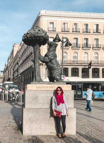 Bear and the Strawberry Tree statue Puerta del Sol Madrid