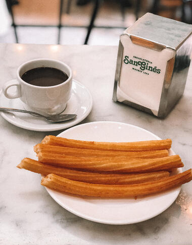 Halal churros and chocolate in Madrid