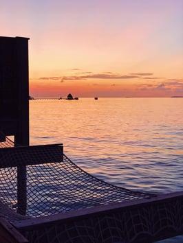 Muslim-travel-blog-Maldives-sunrise-from-villa
