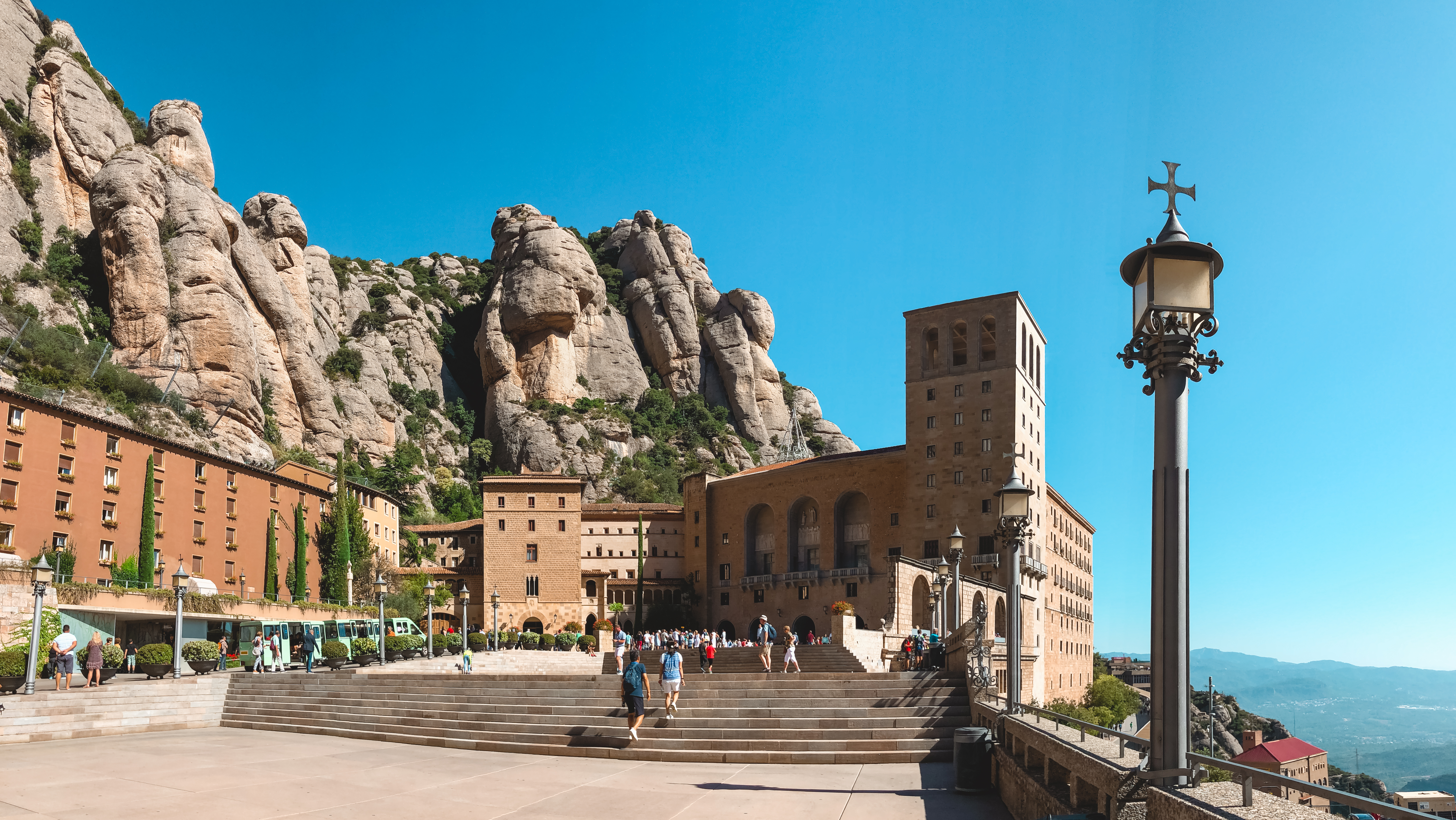 Montserrat monastery on mountain