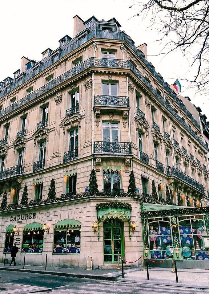 Architecture of Laduree on Champs-Elysees