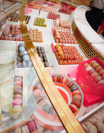 Halal pastries at Pierre Herme in Paris