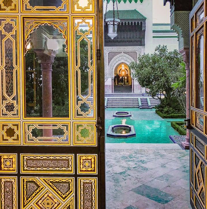 Grand Mosque of Paris yellow door