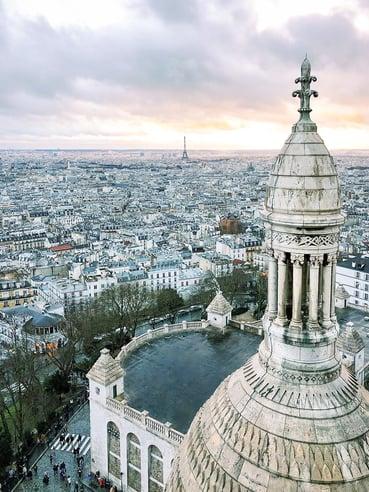 Parisian skyline from Sacré Coeur Basilica dome
