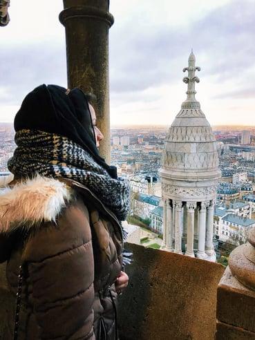 Muslim blogger at Sacré Coeur Basilica dome
