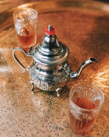 Moroccan tea at Grand Mosque of Paris