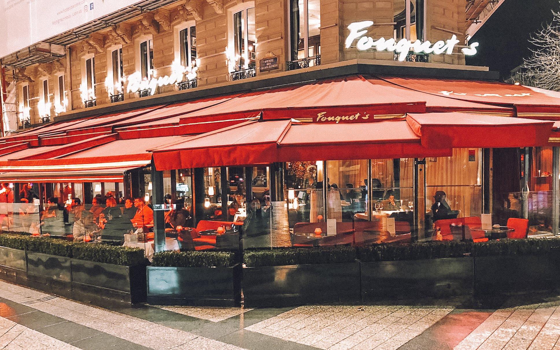 Exterior of halal restaurant Le Fouquet