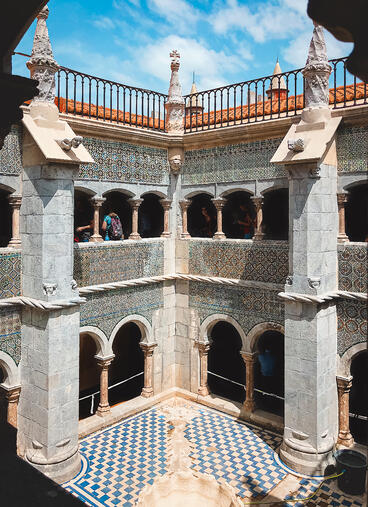 Muslim-travel-guide-Sintra-Portugal-Pena-Palace-inner-courtyard