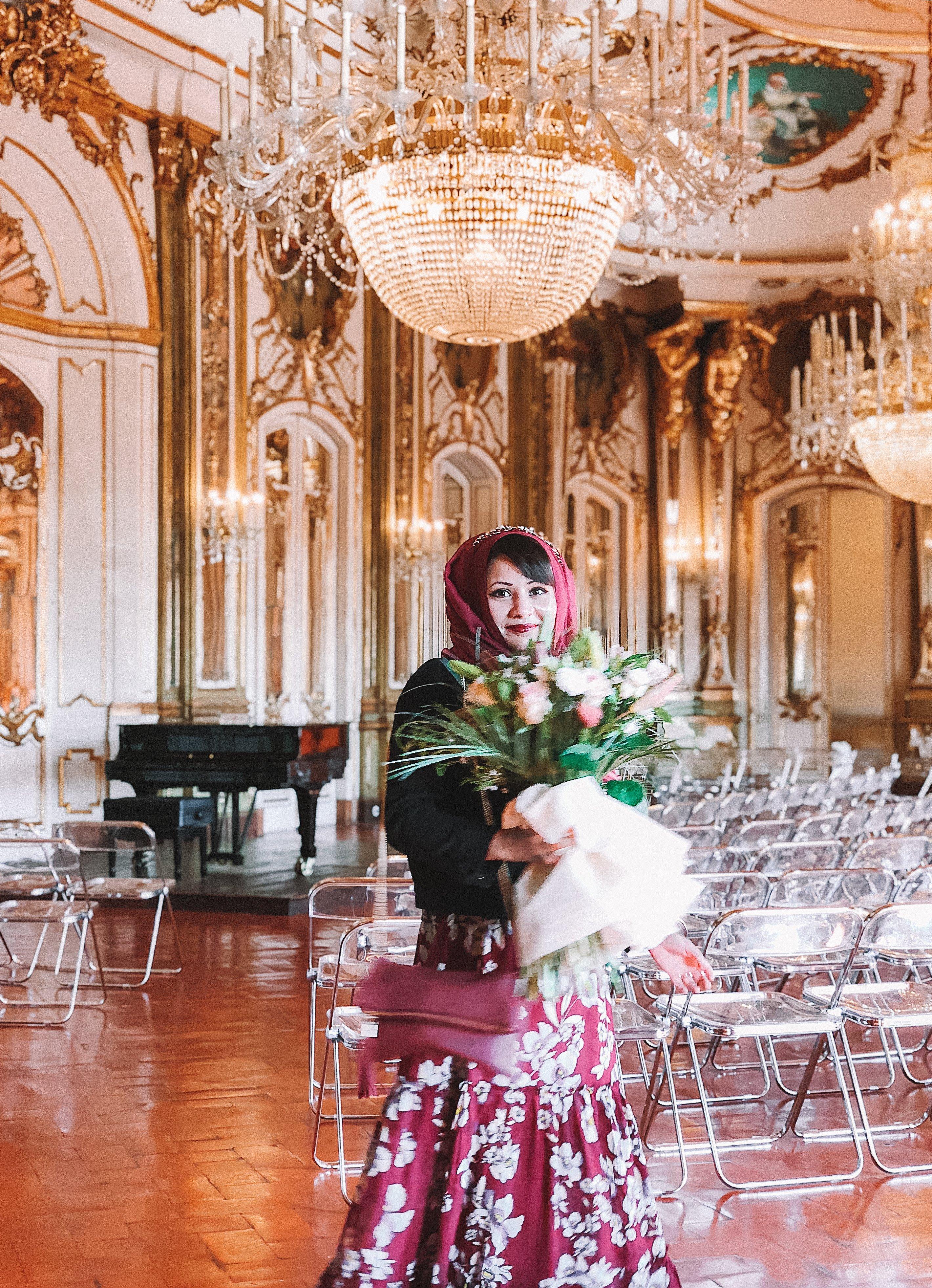 Muslim-travel-tips-Sintra-Portugal-Palace-of-Queluz-ballroom-hijabi