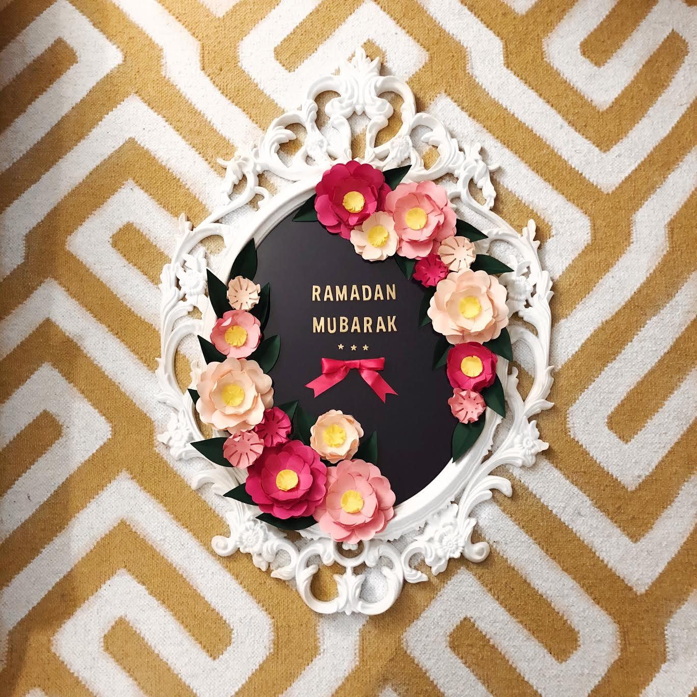 Modern-ramadan-decor-paper-wreath